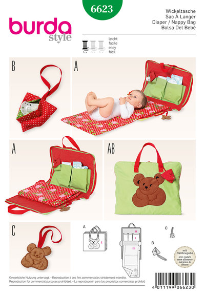 Diaper and nappy bag, pacifier pocket