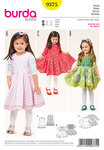 Make a little girl happy with a wonderful dress. But these styles will put a smile on a mother's and grandmothers' face, too! Views A and B have a long underskirt of contrasting fabric to give the skirt more body. View C has an eye catching dipped hem.