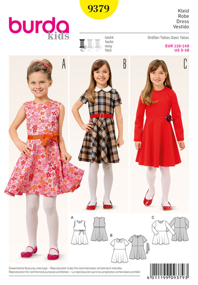 Bell shaped girls dress