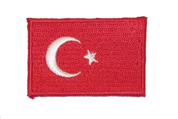 Turkish flag iron on patch 5 x 3 cm