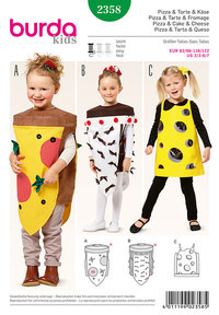 Pizza and cake and cheese, small children . Burda 2358.