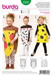 Burda 2358. Pizza and cake and cheese, small children .