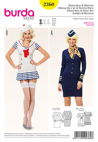 Stewardess and sailor girl . Burda 2360.