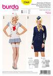 Burda 2360. Stewardess and sailor girl .