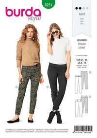 Leggings, Side Zipper. Burda 6251.