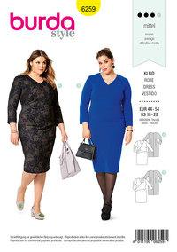 Dress, Asymmetric, Wrap Effect. Burda 6259.
