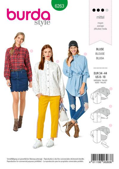 Blouse, Shirt Blouse, Collar Variations