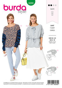 Sweatshirt , Drawstring Casing, Raglan Seams. Burda 6269.