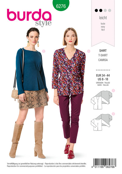 Top, Front Inverted Pleat