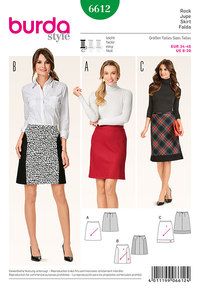 Skirt, flared, bias cut. Burda 6612.