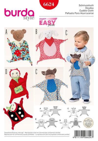 Cuddle Cloth, Bear, Lamb, Monkey, Lady Bug