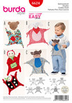 Burda 6624. Cuddle Cloth, Bear, Lamb, Monkey, Lady Bug.