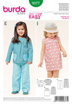 Burda 9377. Dress with yoke, blouse, pants.