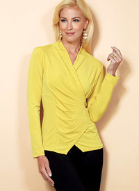 Top with Pleat and Options. Butterick 6517.