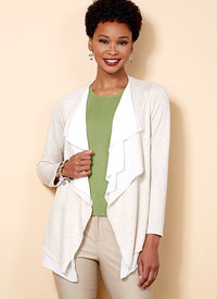 Butterick 6527. Cascade-Collar Knit Jacket.