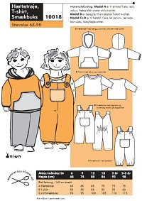 Hooded shirt, T-shirt, overalls. Onion 10018.