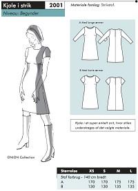 Dress in knit. Onion 2001.