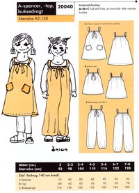 A-spencer, top and pantsuit / overalls. Onion 20040.