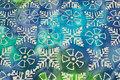 Batique-cotton in blue and green nuances .