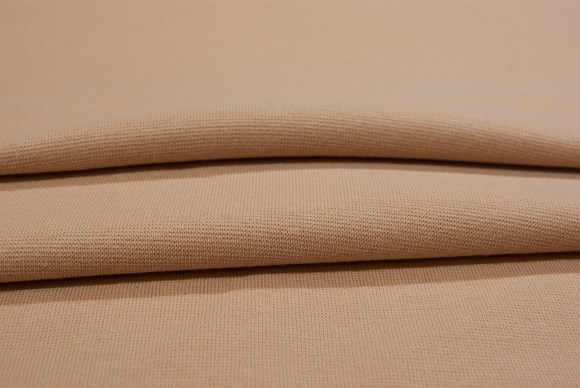 Beige rib-fabric in classic good quality