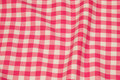 Checked cotton in pink and white