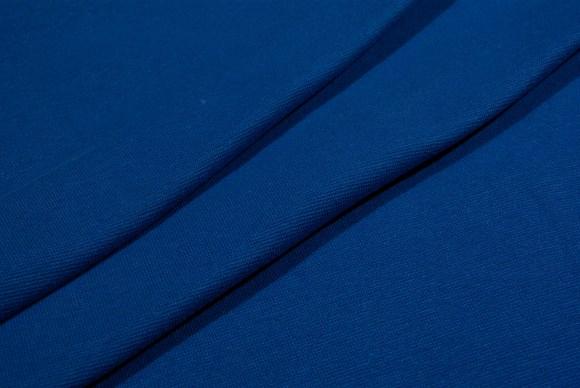 Coboltblue rib-fabric in classic good quality