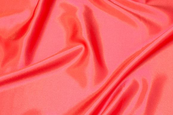 Coral-color crepe-satin