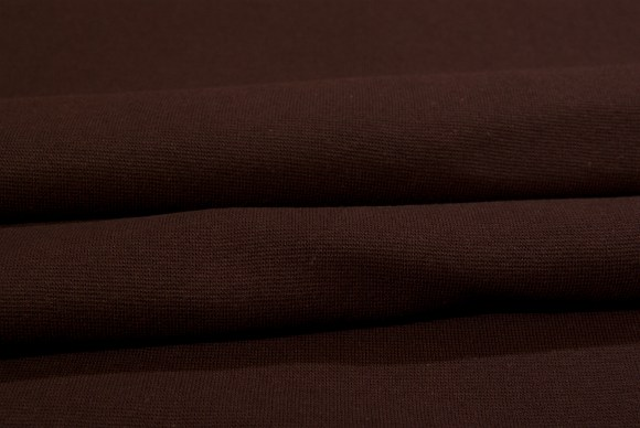 Dark brown rib-fabric in classic good quality