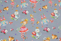 Grey cotton-jersey with fairytale-motifs