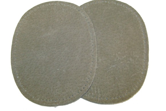 Grey suede patches 13 x 10 cm