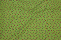 Kiwi-green baby corduroy with small mushrooms