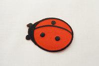 Ladybug iron-on patch 3.5 x 5 cm