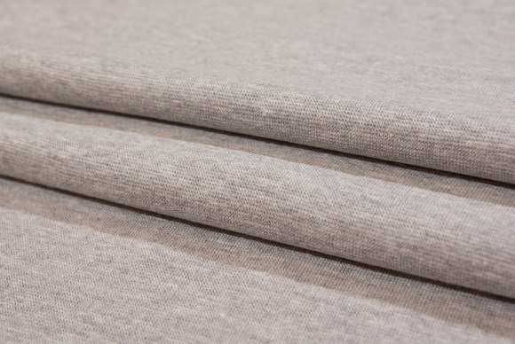Light grey rib-fabric in classic good quality