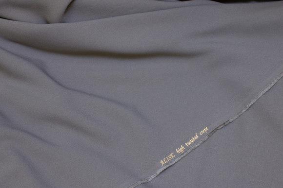 Medium-grey dress crepe in high twist quality