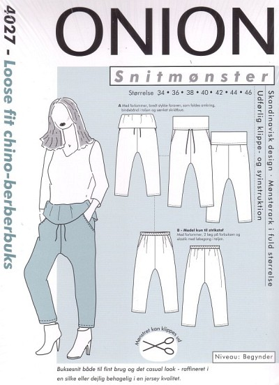 Loose fit chino-berber pants