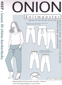 Loose fit chino-berber pants. Onion 4027.