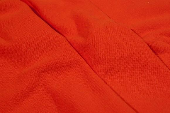 Orange rib-fabric in classic good quality