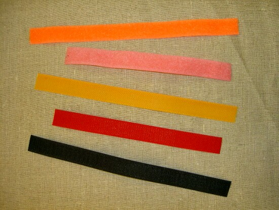 Sew-on adhesive drape in lots of colors, 5 cm wide