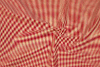 Small-checkered cotton in winter-red and beige