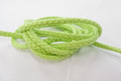 Cotton cord lime 5mm