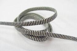 Cotton lace black/offwhite 7mm