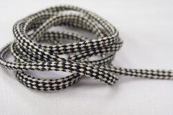 Cotton cord black/offwhite 5mm