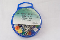 Patchwork pin with flat head ca 60pcs