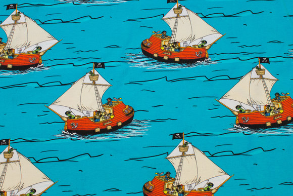 Turqoise cotton-jersey with Barnaby Bears ship