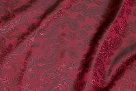 Wine-red jacquard-woven lining
