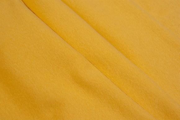 Yellow rib-fabric in classic good quality