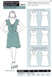 Empiredress with pleats for knits
