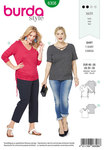 Burda 6308. Side gathered top.