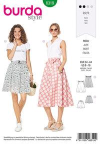 Burda 6319. Bell shaped skirt.