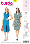 Burda 6321. Dress with lapels.